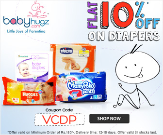 Flat 10% Off on Diapers at Babyhugz