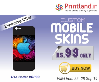 Personalized Mobile Skins for Rs.99 at PrintLand