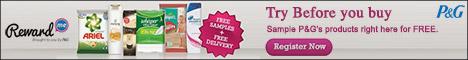 Free Samples Of Gillette, Ariel, Olay, Pantene, Head & Shoulder Shampoo,Whisper & More...